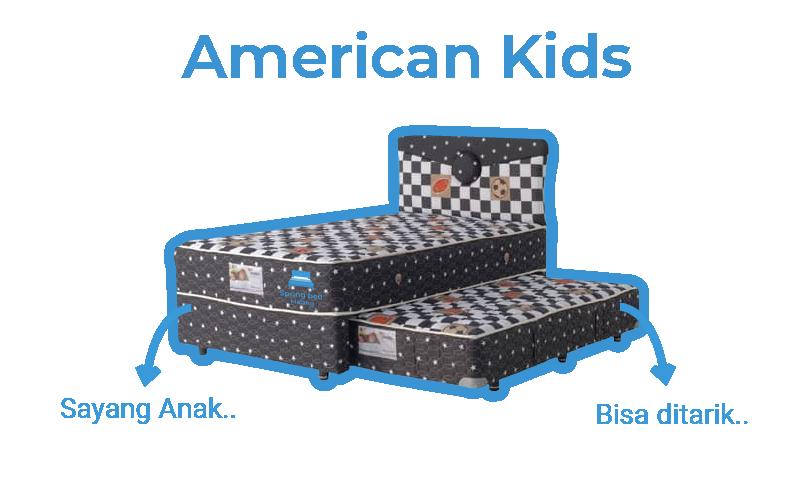 harga american springbed kids 2in1